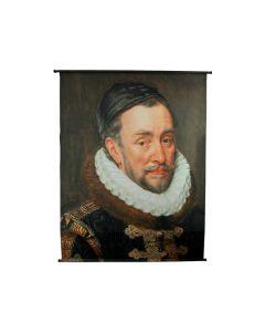 Portrait velvet brown wandplaat